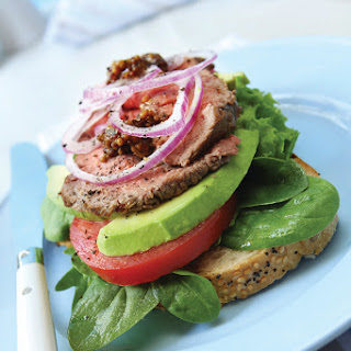Steak Sandwiches with Tomato-Avocado Salsa