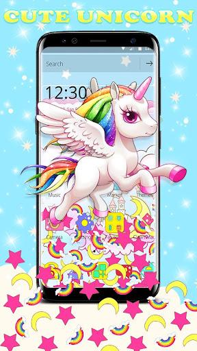 Cute Pink Unicorn Gravity Theme 1.1.1 screenshots 1