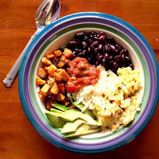 Healthy and Tasty Scrambled Egg Breakfast Bowls.