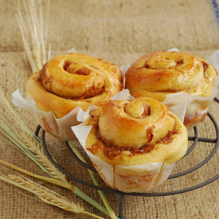 Apple & Ginger Brioche Scrolls