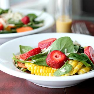 Spinach Salad With Honey Mustard Vinaigrette.