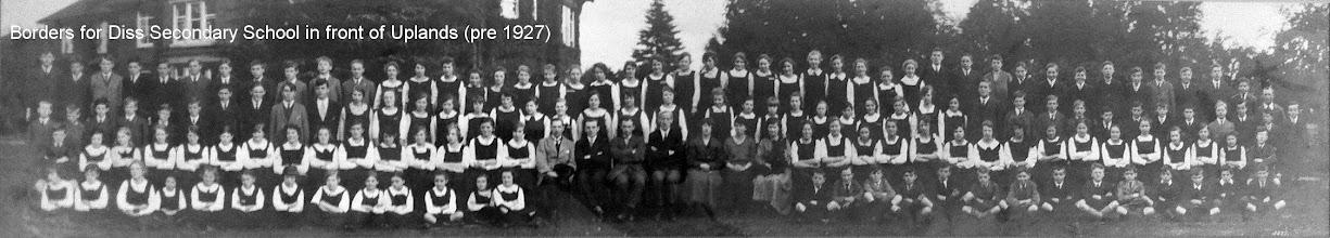 Photo: Diss Secondary School – pre 1927.