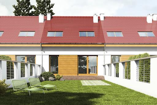 projekt Agat II bez garażu szeregówka A-SZ