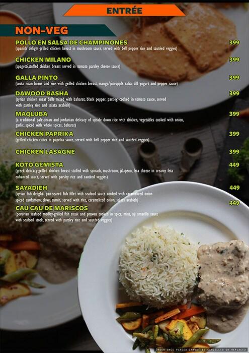 The Fusion Cuzine menu 15