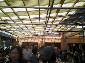 The roof of the eating area