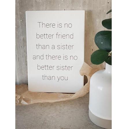 Trätavla - No better sister