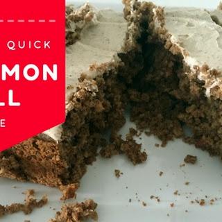 Quick Cinnamon Roll Cake