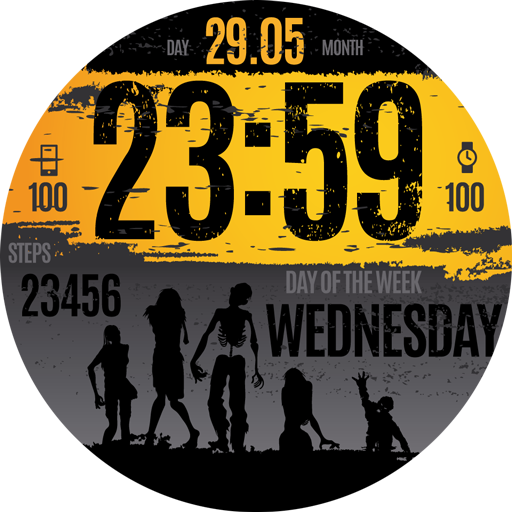 The WATCHING DEAD watch face