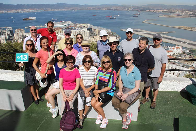 Crystal Cruises passengers on a tour of Gibraltar.