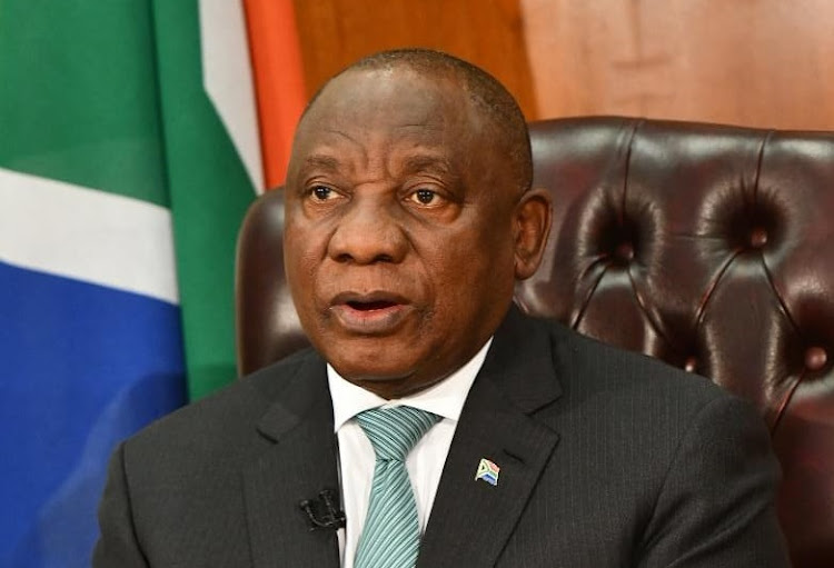 President Cyril Ramaphosa adresses the nation on Tuesday April 21 2020. Picture: GCIS