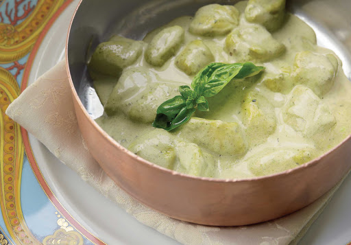 Try the freshly made gnocchi with pesto at Toscana on Oceania Cruises.