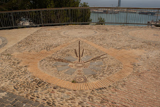 Photo: Recycled masonry and other stuff paved the Jardins Mossen Costa i Llobera, Barcelona