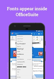 Font Pack for OfficeSuite Screenshot