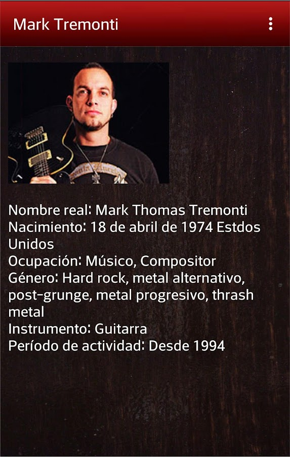 Diccionario para guitarristas- screenshot