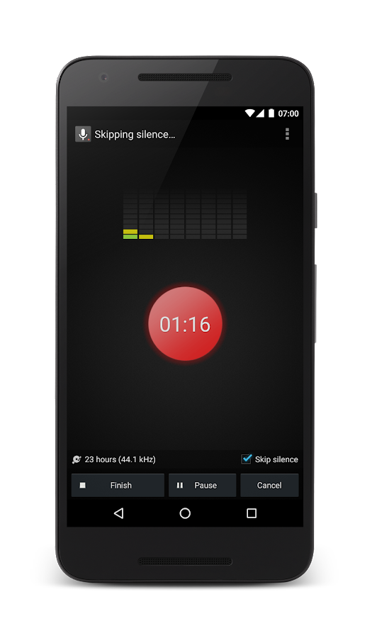 Smart Voice Recorder: captura de tela
