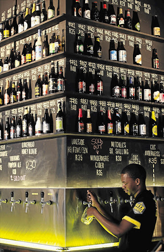 Beerhouse on Long Street, Cape Town, proudly boasts 99 bottles of craft beer, including Defrium, which has been voted best beer in the world