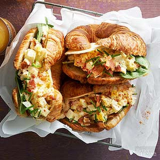 Deviled Egg Croissant-wiches.
