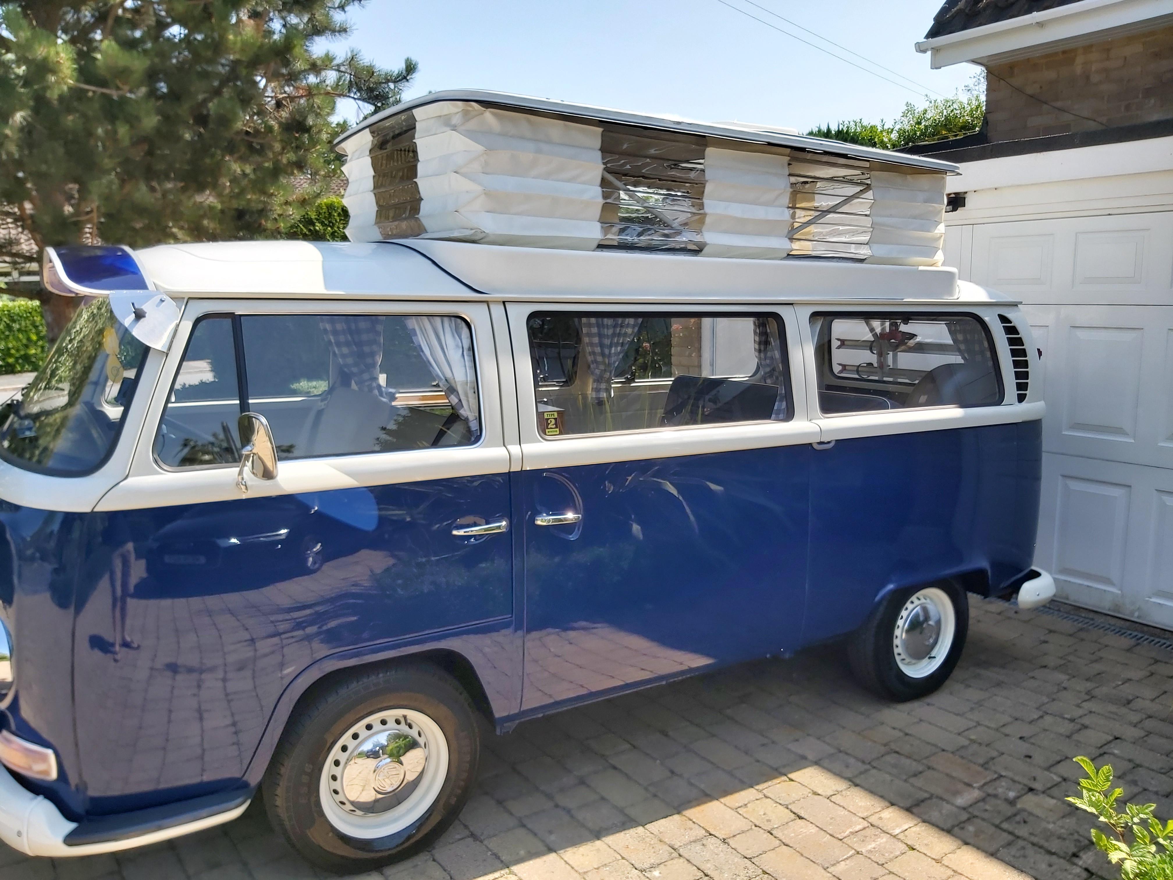 Volkswagen Devon Sunlander Camper T2 Bay Window 4 Berth Hire United Kingdom