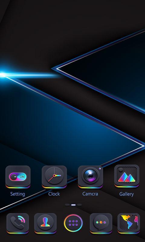 Скриншот After Dark GO Launcher Theme