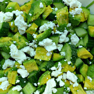Cucumber Salad with Avocado & Goats Cheese