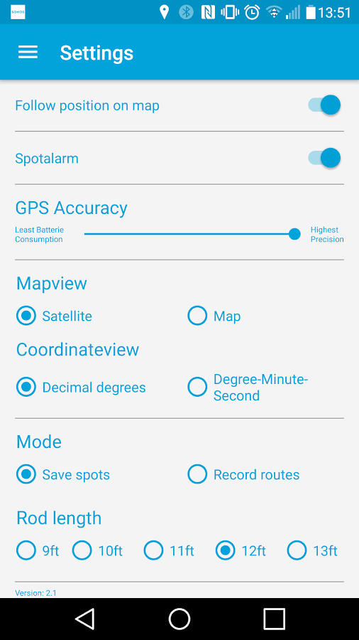 Carpigate - GPS App for Angler- screenshot