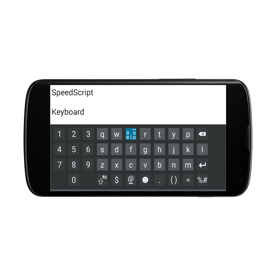 SpeedScript Keyboard free- screenshot