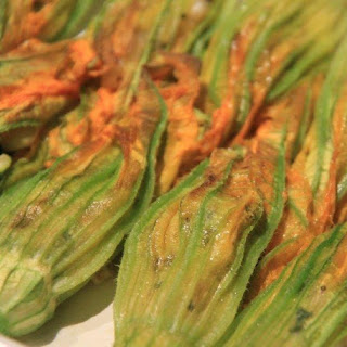 Baked Stuffed Zucchini Flowers or Squash Blossoms).