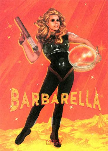 Przód ulotki filmu 'Barbarella'