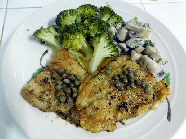 Fish With Lemon, Butter & Caper Sauce Recipe