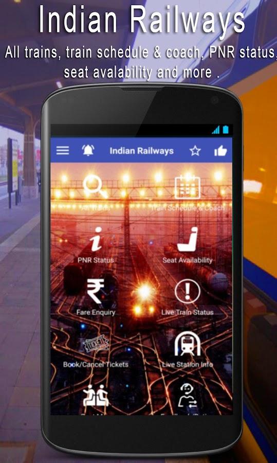 ... Live Train IRCTC PNR Status & Indian Rail Info apk screenshot ...