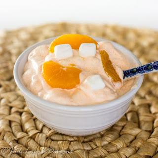 Orange Fluff Cottage Cheese.