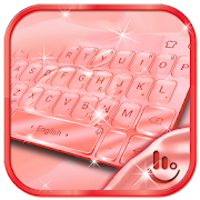 Rose Gold Crystal Apple Keyboard Theme