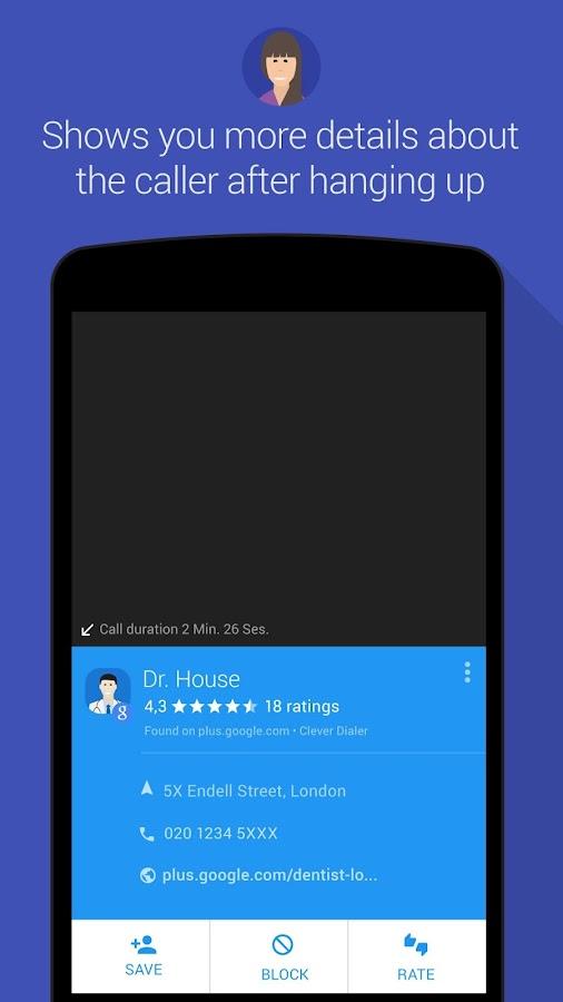 Clever Dialer - caller ID - screenshot