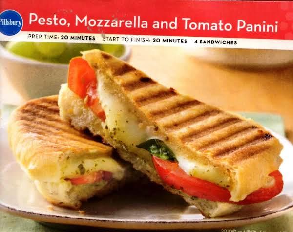 Pesto, Mozarella And Tomato Panini Recipe