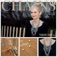 Photo: Triple Chain Statement Necklace DIY Feature http://www.trinketsinbloom.com/wearable-diy/triple-chain-statement-necklace-diy/