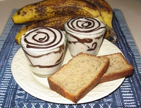 Mousse a la banane et chocolat craquant