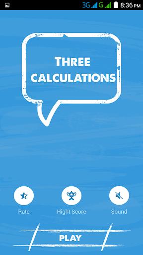 Three Calculations - Fast Math