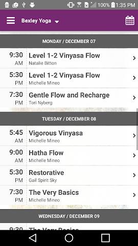android Bexley Yoga Screenshot 1