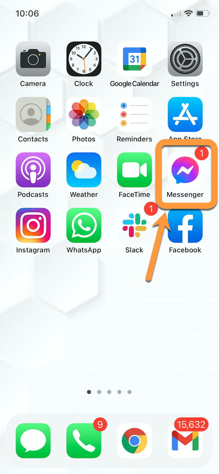 facebook messenger for mobile example
