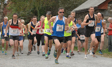 Photo: Eventual winner Alun Williams leads the way at the start of the main race.