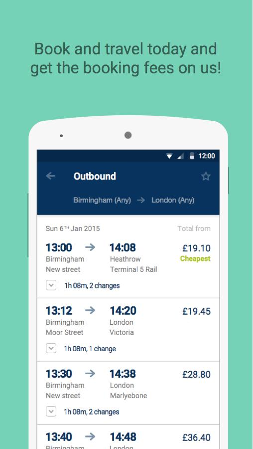 Buy cheap train tickets online in advance, save an average of 43% against purchasing on the day and reduce the cost even more thanks to our Trainline discount codes and cashback deals.