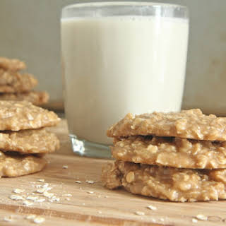 Old Fashioned Peanut Butter Oatmeal No-Bake Cookies.