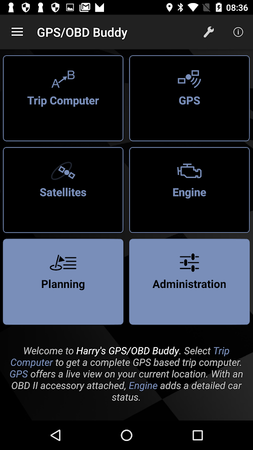Harry's GPS/OBD Buddy- screenshot