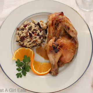 Cornish Game Hen with Grand Marnier Sauce.