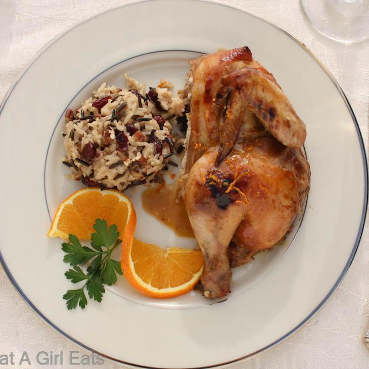 Cornish Game Hen with Grand Marnier Sauce