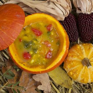 Vegan Pumpkin Corn Chowder