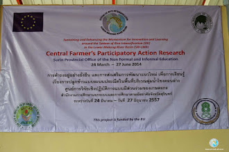 Photo: Central Farmer's Participatory Action Research in Tha Tum district, Surin