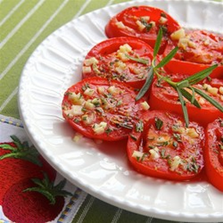 Baked Tomato Slices Recipe
