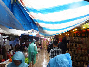 Photo: Raining day in the market