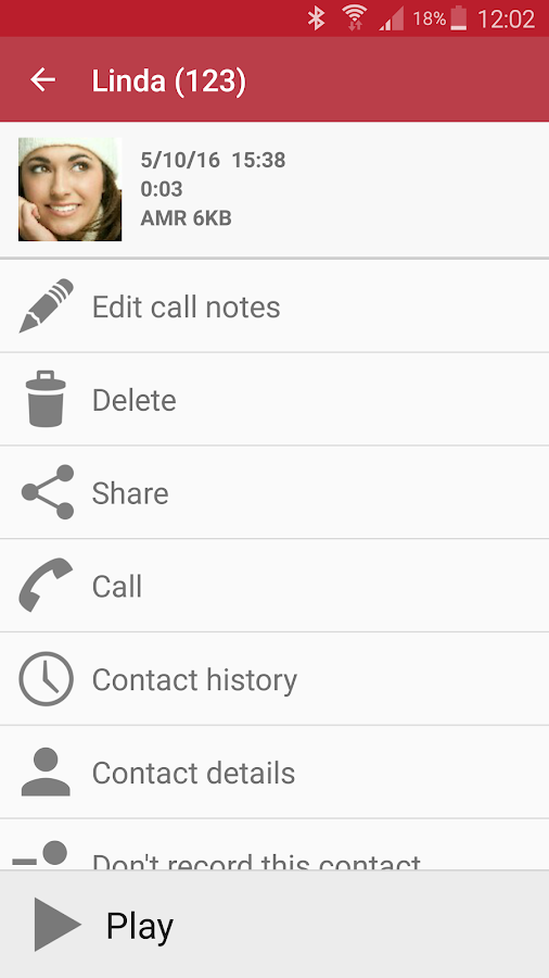 Screenshots of Automatic Call Recorder for Android